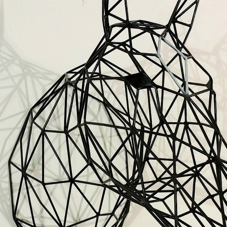 Black Horse Iron Sculpture In New Condition For Sale In Milan, IT