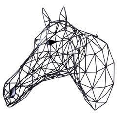 Black Horse Iron Sculpture