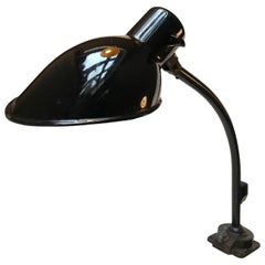 Black Industrial Bauhaus Wall or Desk Lamp by Marianne Brandt, Kandem, 1930s