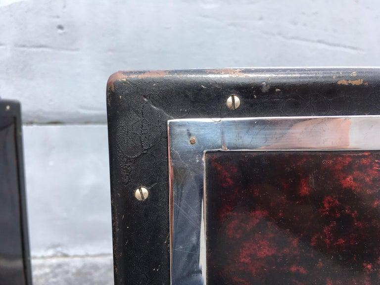 Black Industrial Nightstands Art Deco Tables For Sale 4