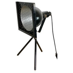 Black Industrial Tripod Table Lamp, 1960s