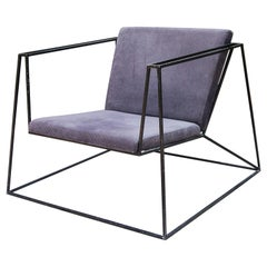Black Iron Cubistic Chair
