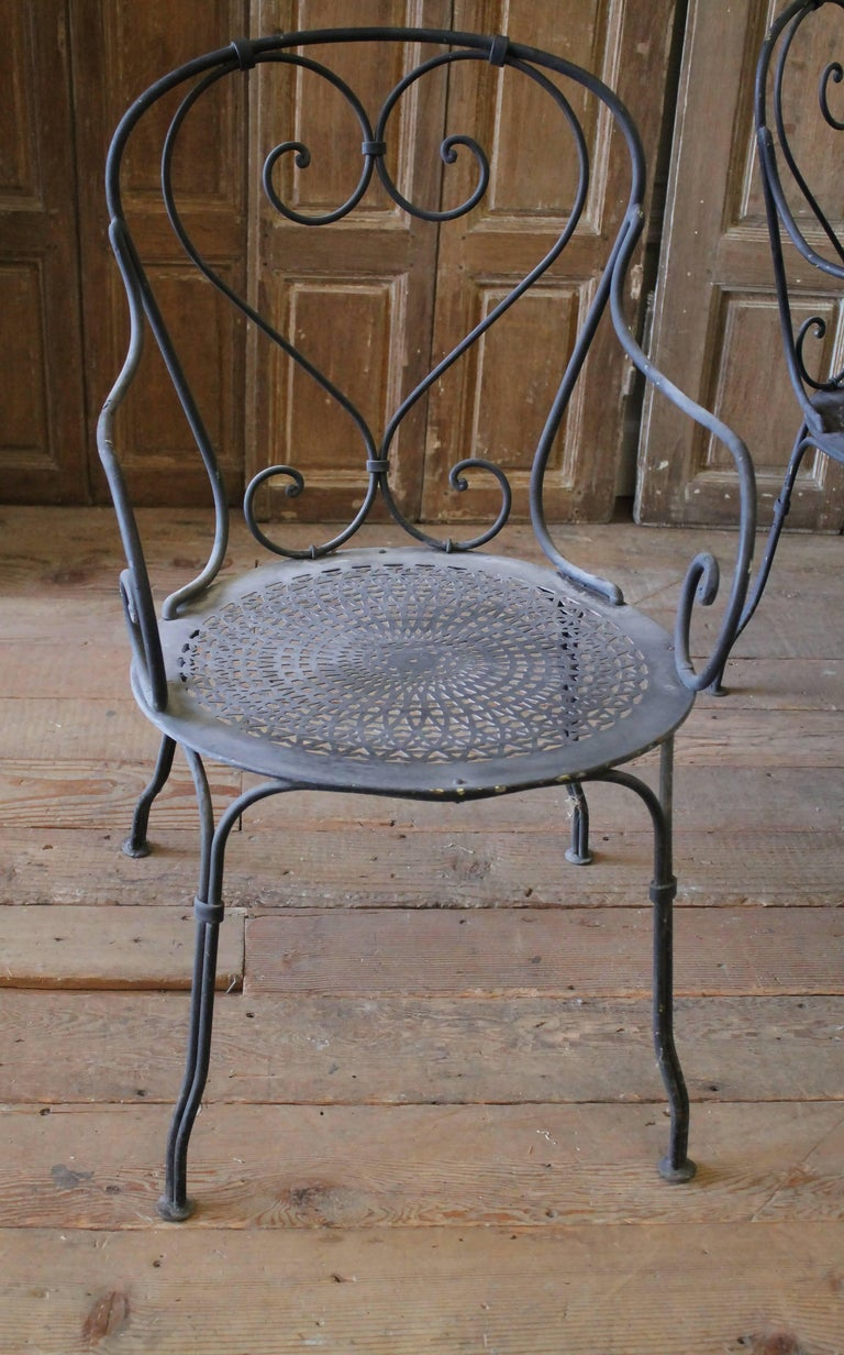 Black Iron French Patio Outdoor Table And Chairs At 1stdibs