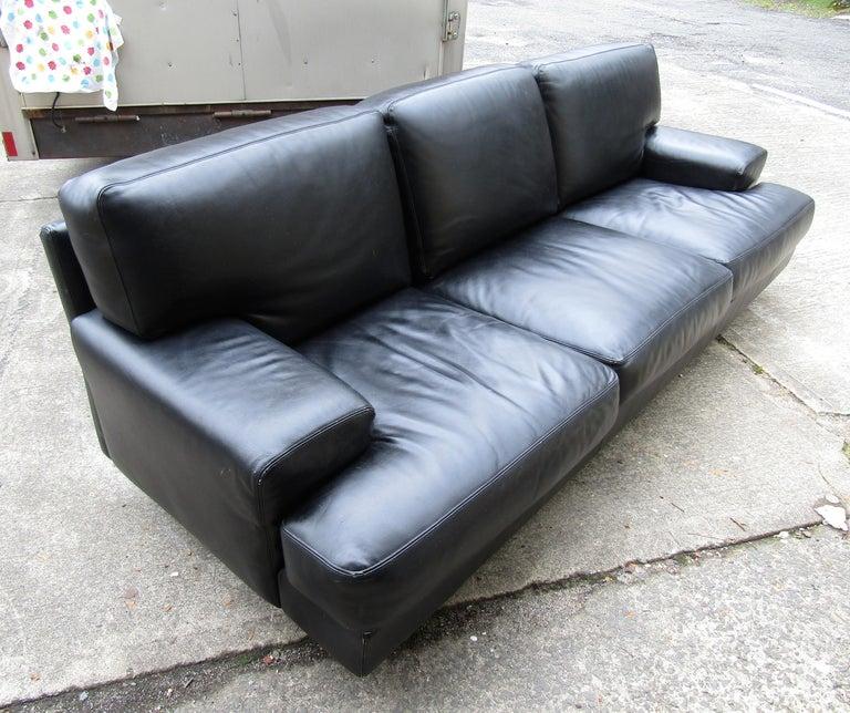Black Italian Sofa by B&B Italia For Sale 3