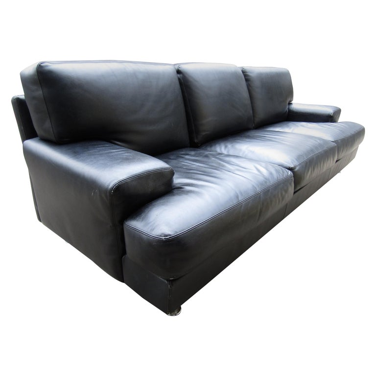 Black Italian Sofa by B&B Italia For Sale
