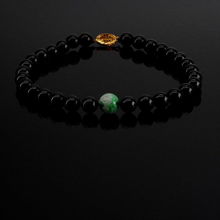 With all due respect to pearls, rubies, emeralds and gold, nothing compares to the below-room-temperature weighty luxury of an extremely fine and rare strand of large jade beads around your neck. What you see here is a genuine treasure; the kind of