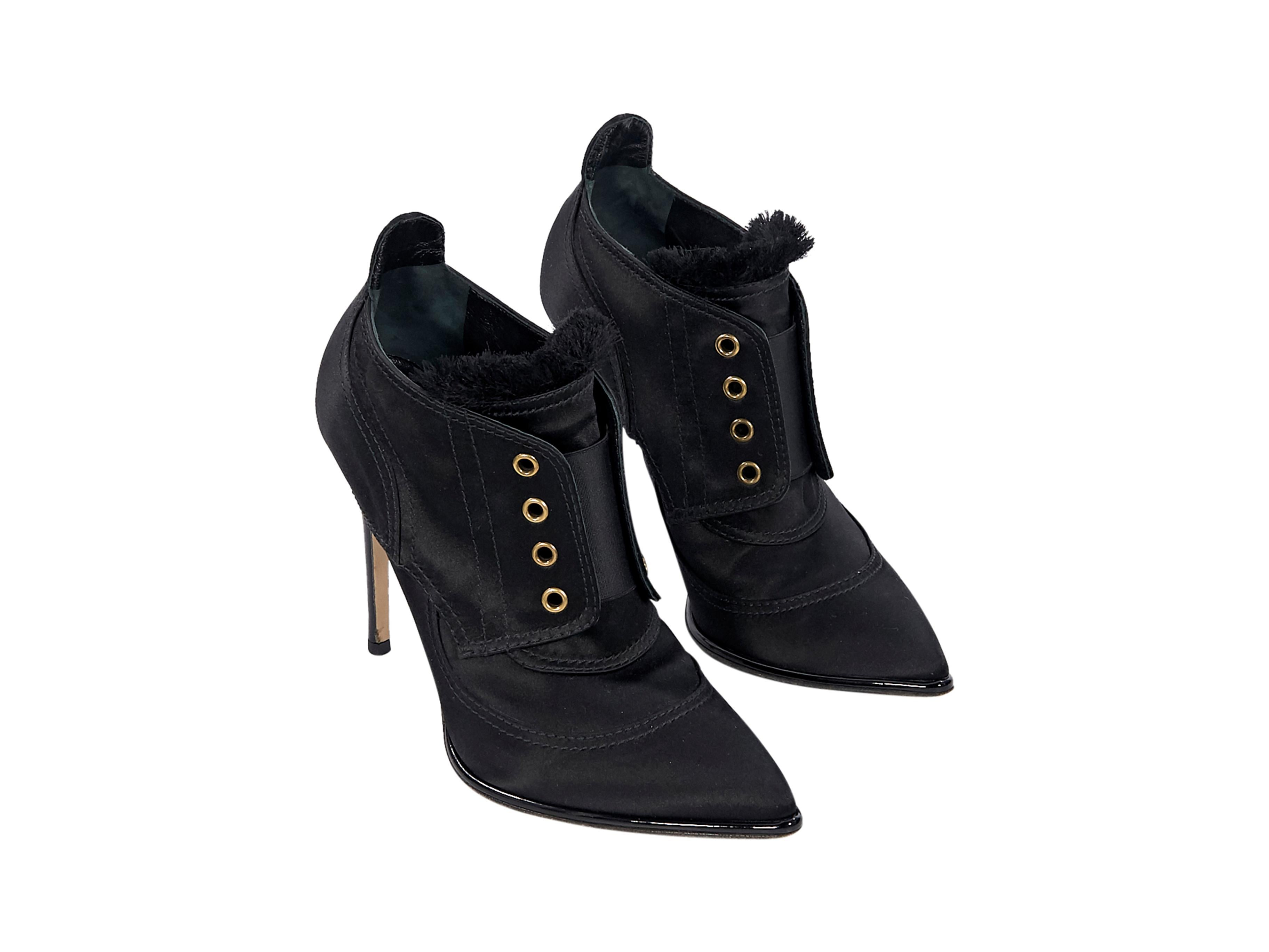 e1f9a47225a1d Black Jimmy Choo Satin Ankle Boots For Sale at 1stdibs