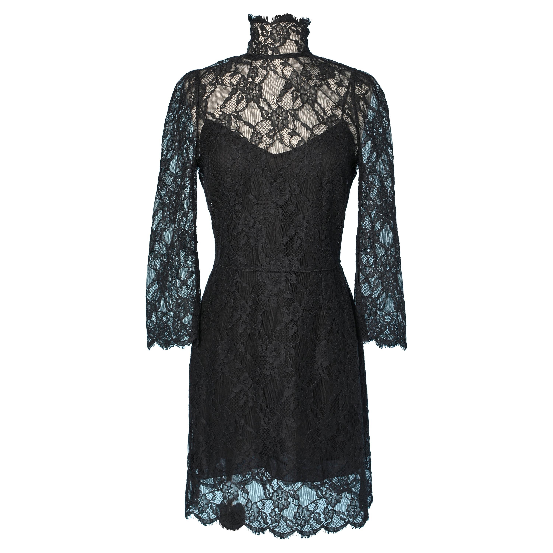 Black lace dress  with black lining Dolce & Gabbana