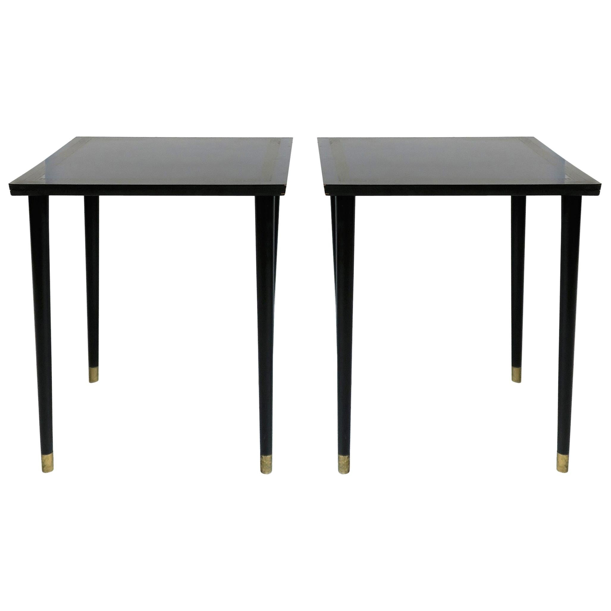 Black Side Tables Nesting or Stacking