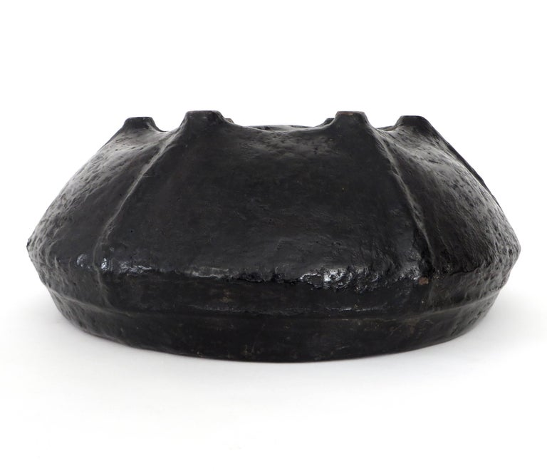 Black Lacquer Handmade Woven Basket from Burma 19th Century For Sale 2