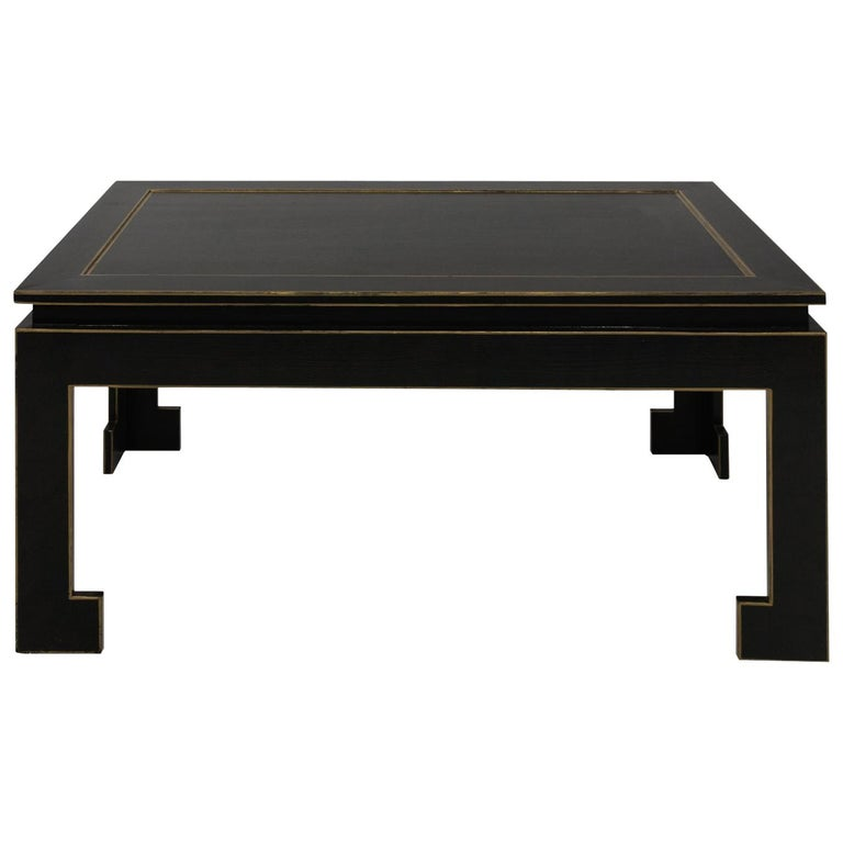 Black Lacquered Chinese Coffee Table At 1stdibs