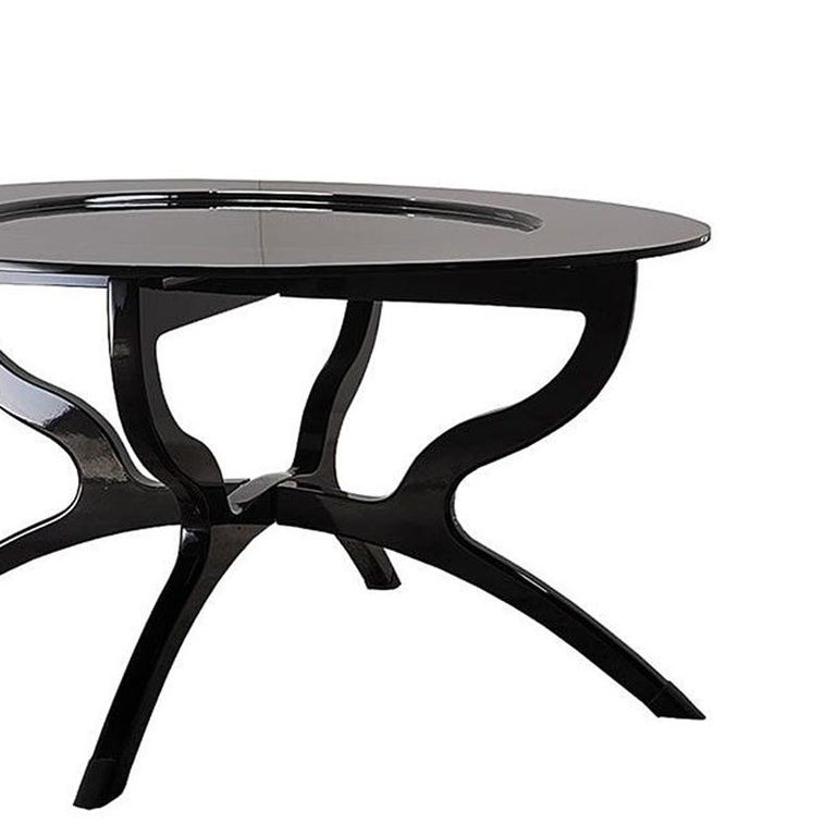 Spanish Black Lacquered Coffee Table For Sale