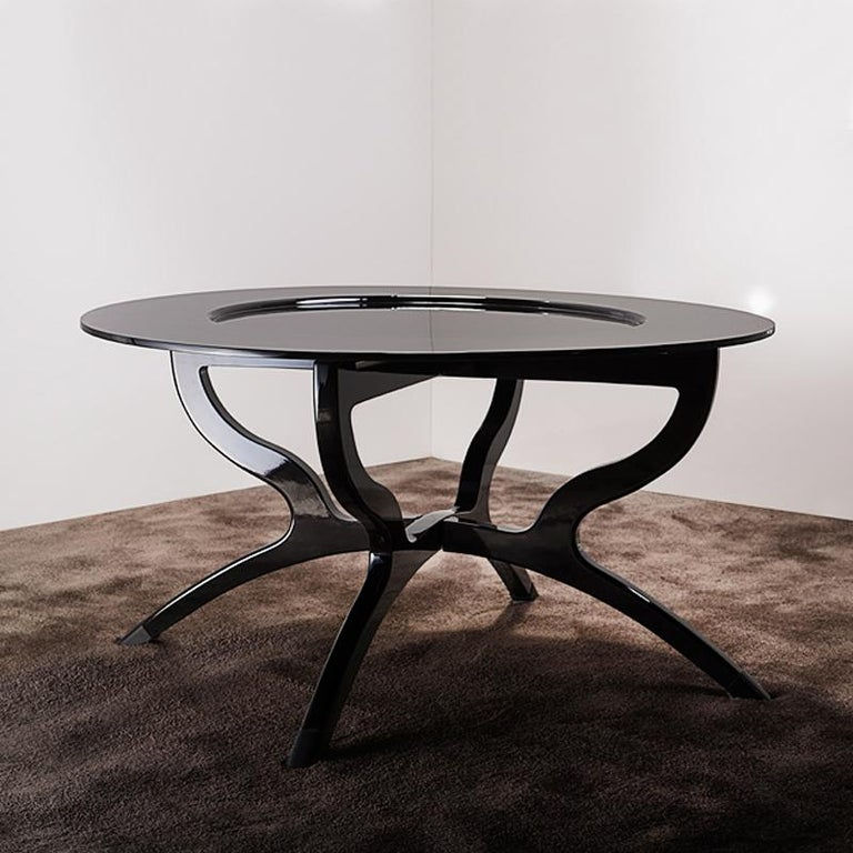 Black Lacquered Coffee Table In New Condition For Sale In Paris, FR