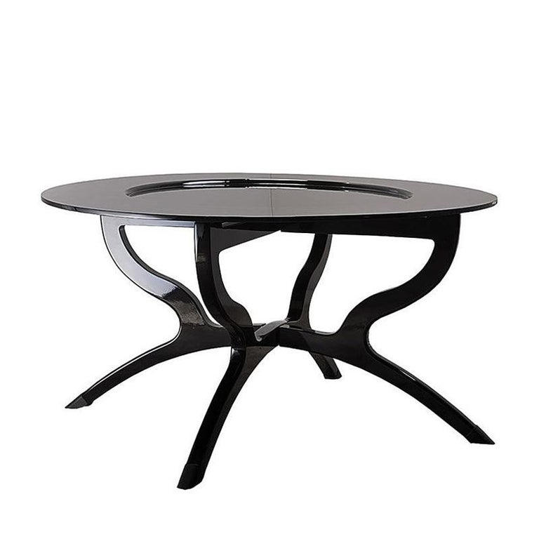 Black Lacquered Coffee Table For Sale