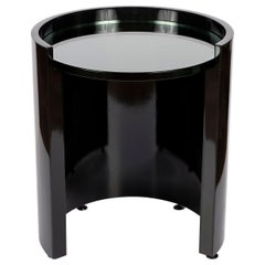 Black Lacquered Occasional Table