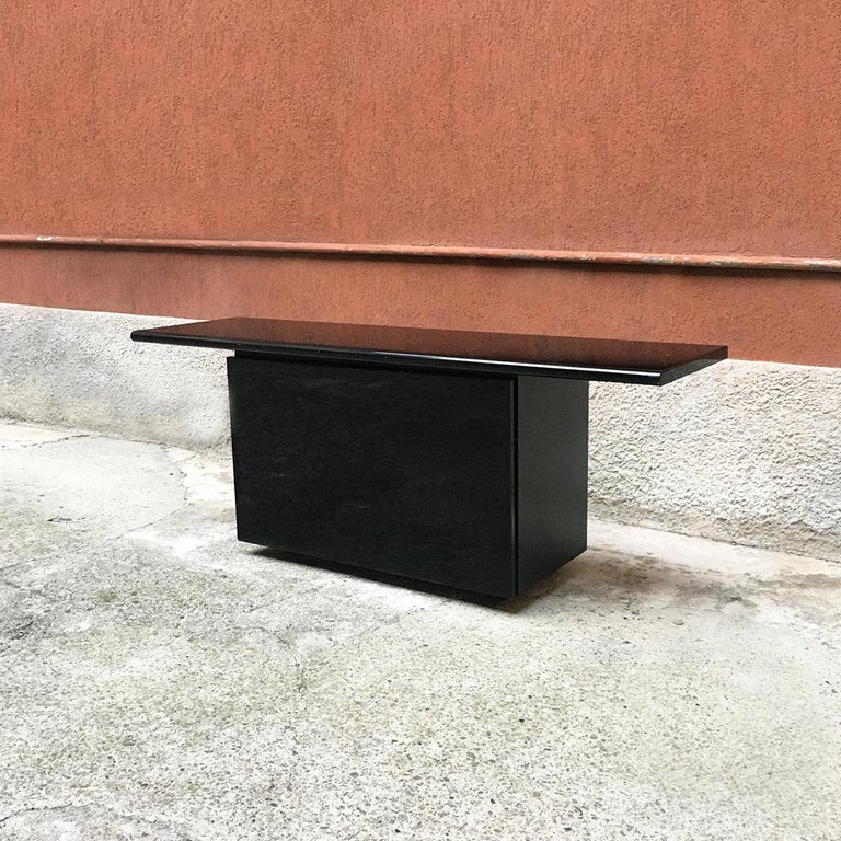 Mid-Century Modern Black Lacquered Sheraton Sideboard by G.Stoppino and L.Acerbis by Acerbis, 1977