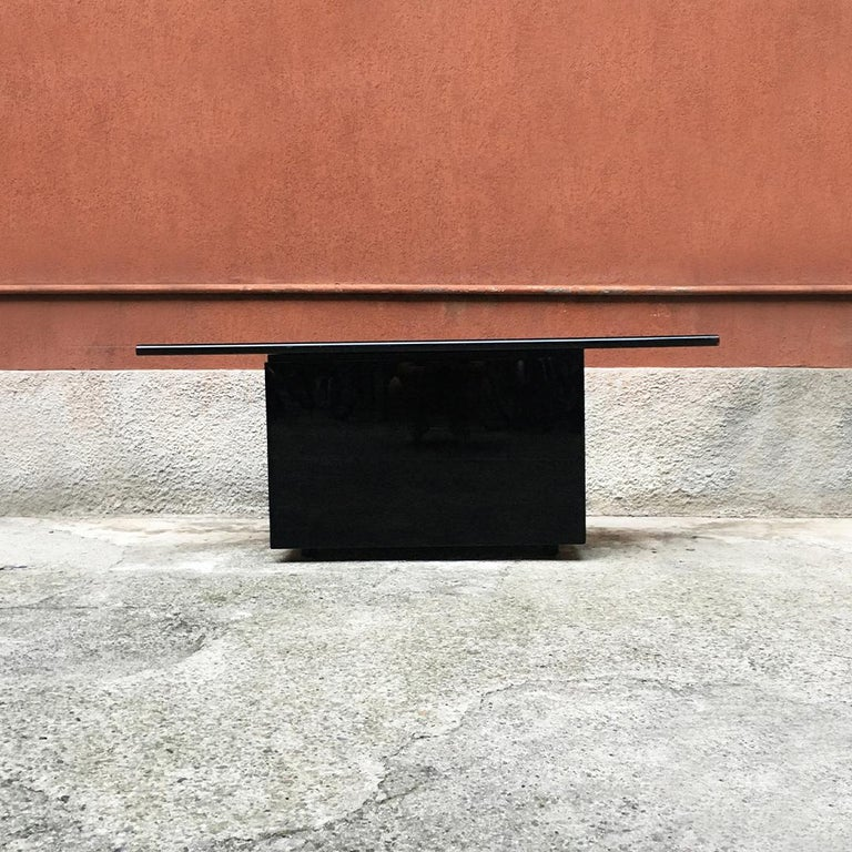 Italian Black Lacquered Sheraton Sideboard by G.Stoppino and L.Acerbis by Acerbis, 1977