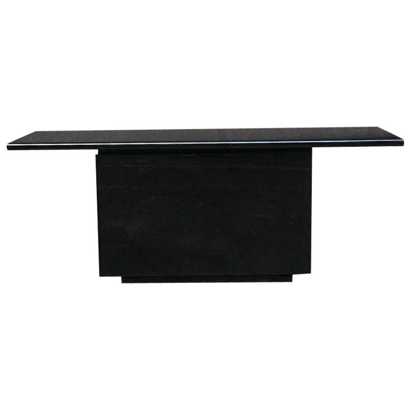 Black Lacquered Sheraton Sideboard by G.Stoppino and L.Acerbis by Acerbis, 1977