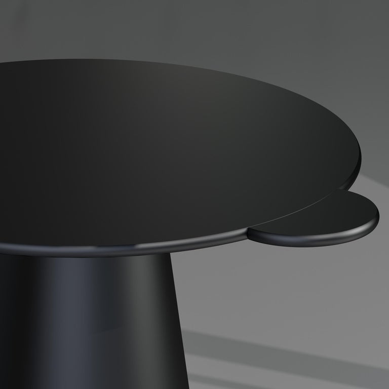 Italian Black Lacquered Wood Contemporary Donald Table by Chapel Petrassi For Sale