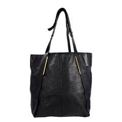 Black Lanvin Leather Miss Sartorial Tote Bag