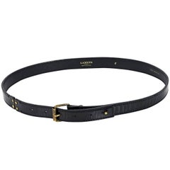 Black Lanvin Patent Leather Belt