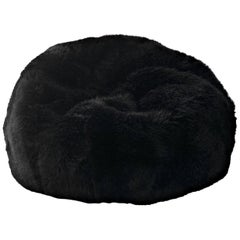 Black Large Sheepskin Bean Bag Chair, Australian Sheepskin, Made in Australia