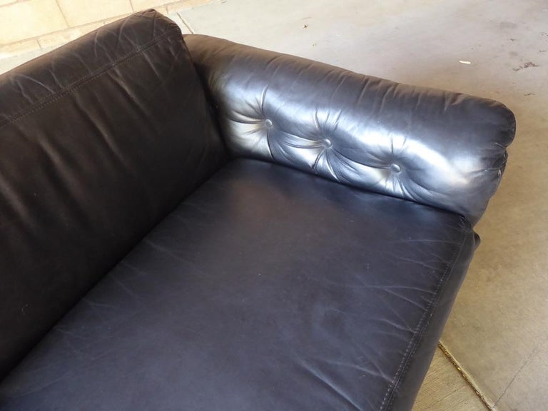 Black Leather and Rosewood Sofa by Milo Baughman for Thayer Coggin, circa 1970s For Sale 4