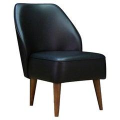 Black Leather Armchair Original Classic, 1980s