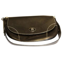Black Leather Bag by Etienne Aigner