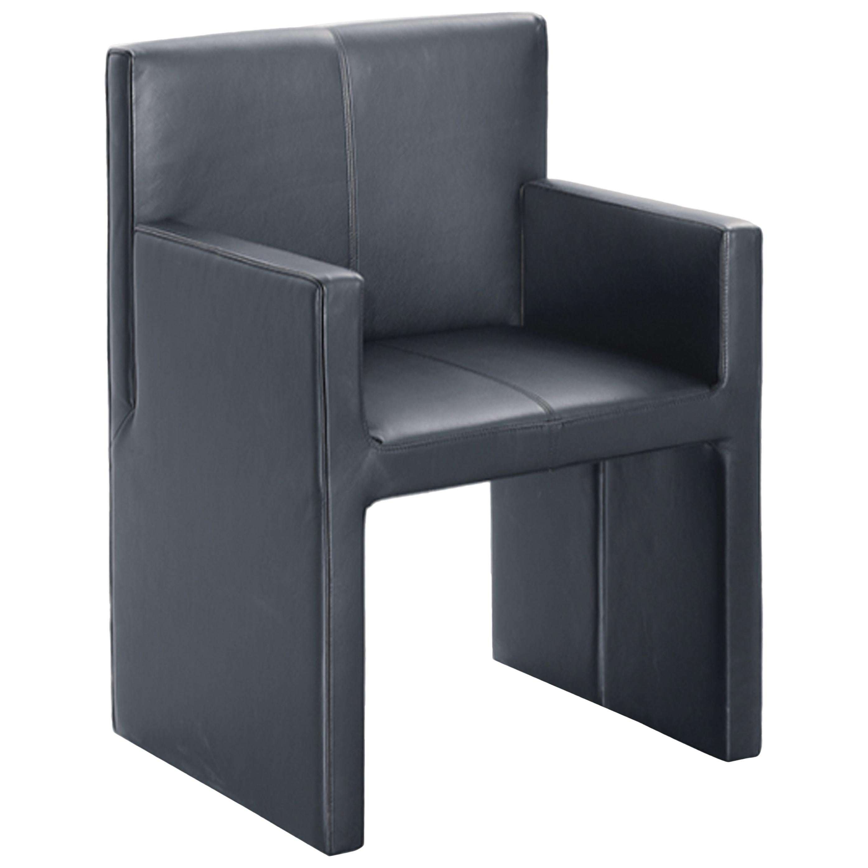Wittmann Black Leather Corso Armchair