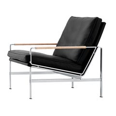 Black Leather FK6720 Easy Chair by Jørgen Kastholm & Preben Fabricius