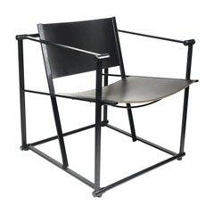 Black Leather FM62 Cube Chair by Radboud Van Beekum for Pastoe