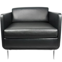 Black Leather Gaia Armchair by Arik Levy for Bernhardt Design