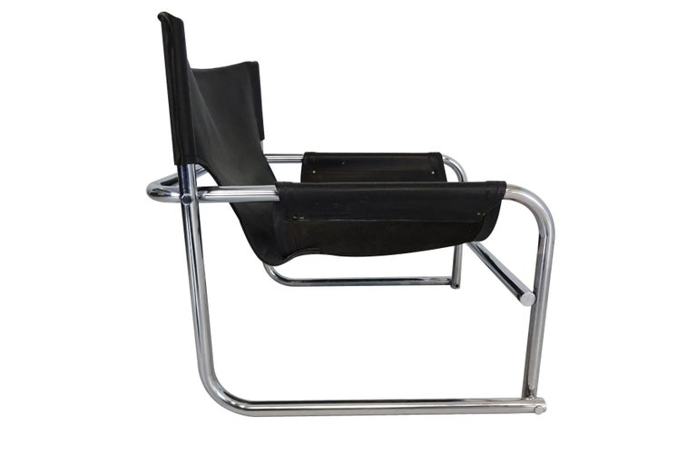 English Black Leather Lounge Chairs, Vintage Midcentury by Rodney Kinsman for OMK For Sale