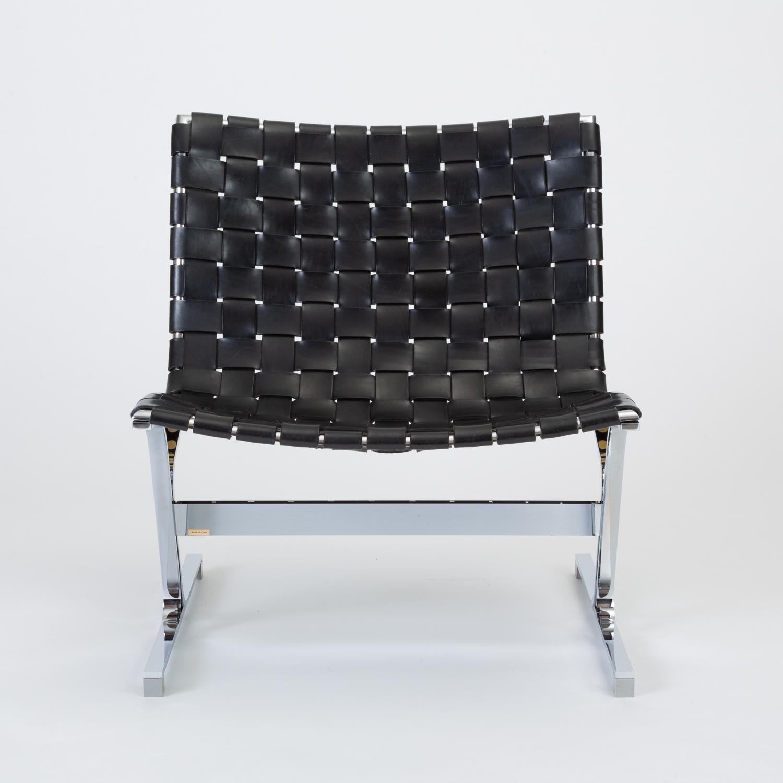 Sensational Black Leather Luar Chair By Ross Littell For Icf De Padova Creativecarmelina Interior Chair Design Creativecarmelinacom