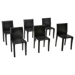 Black Leather 'Pasqualina' CAB Dining Chairs