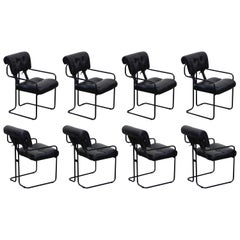 Black Leather Tucroma Chairs by Guido Faleschini for Mariani Pace, 1970s, Signed