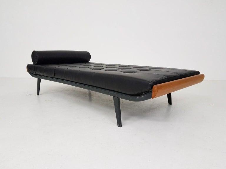 Mid-Century Modern Black Leatherette