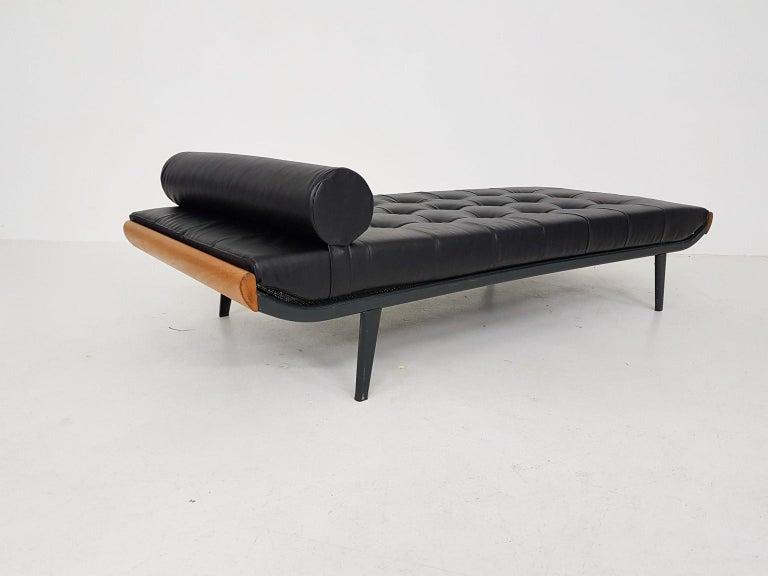 Mid-20th Century Black Leatherette