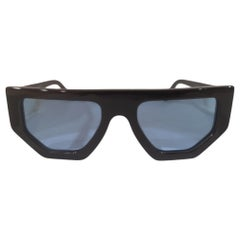 Black light blue lens sunglasses