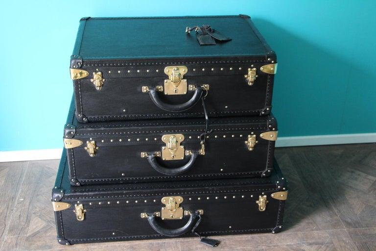 Black Louis Vuitton Alzer 80 Suitcase Louis Vuitton Suitcase Louis Vuitton Trunk For Sale 13