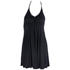 Black Louis Vuitton Jersey Knit Babydoll Top