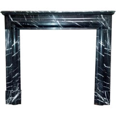 Black Louis XIV Style Bolection Molded Mantel