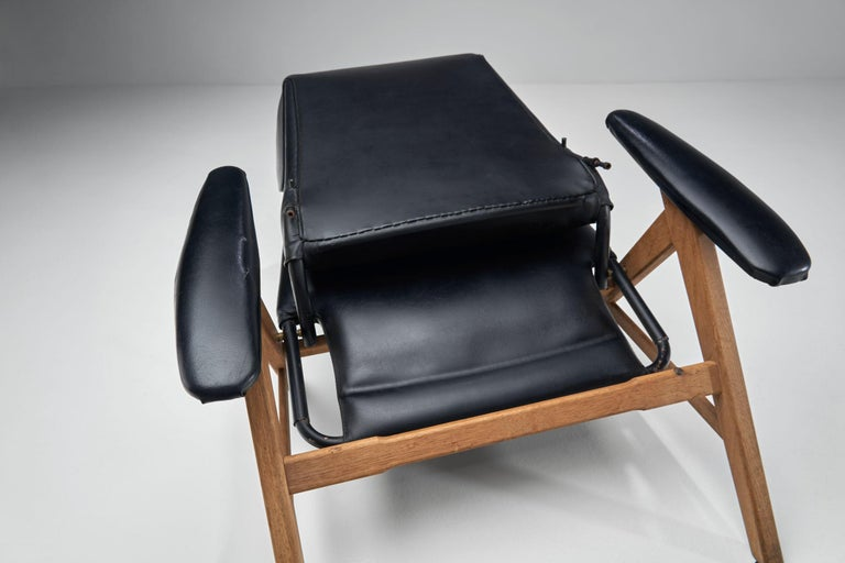 Black Lounge Chair with Beech Frame by H.W. Klein, Denmark, 1960s For Sale 9