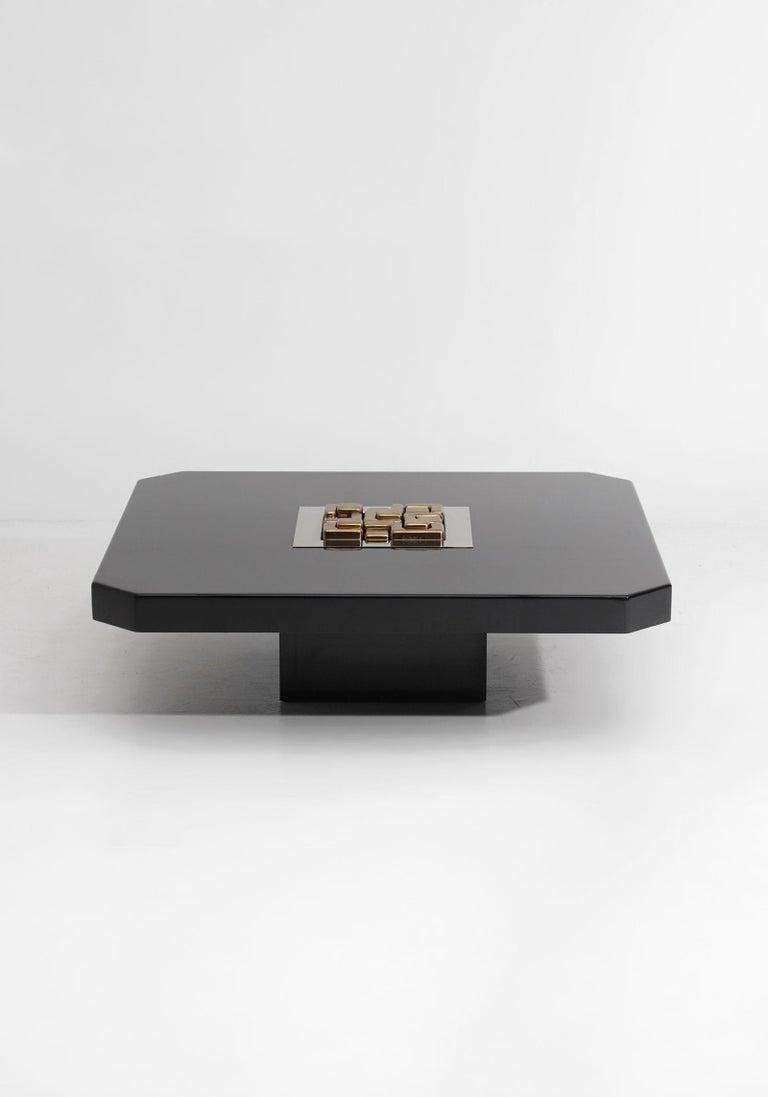 Black 'Lova Creation' Coffee Table For Sale 4