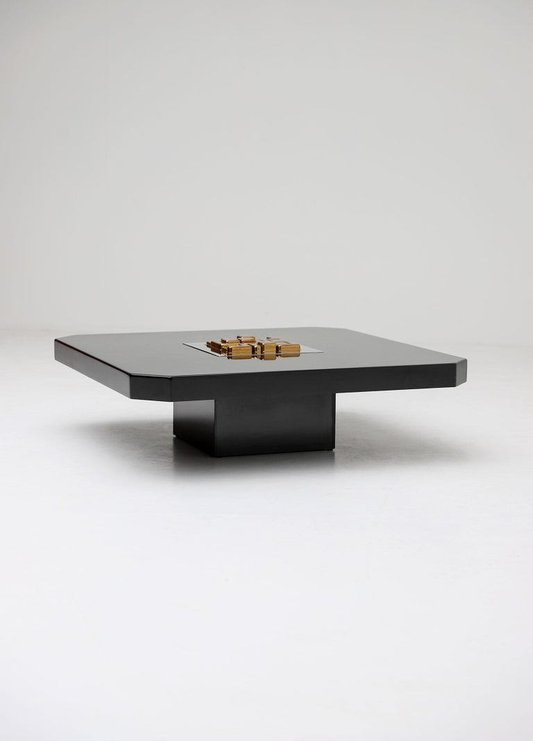 Black 'Lova Creation' Coffee Table For Sale 5