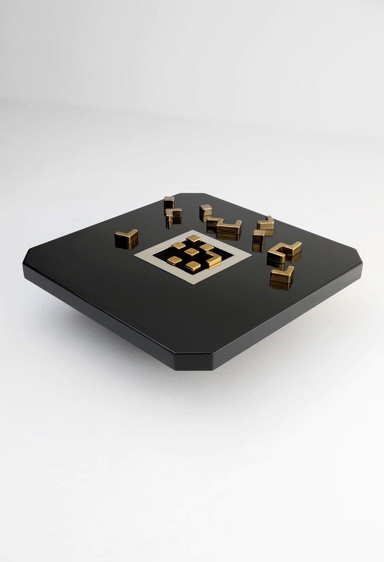 European Black 'Lova Creation' Coffee Table For Sale