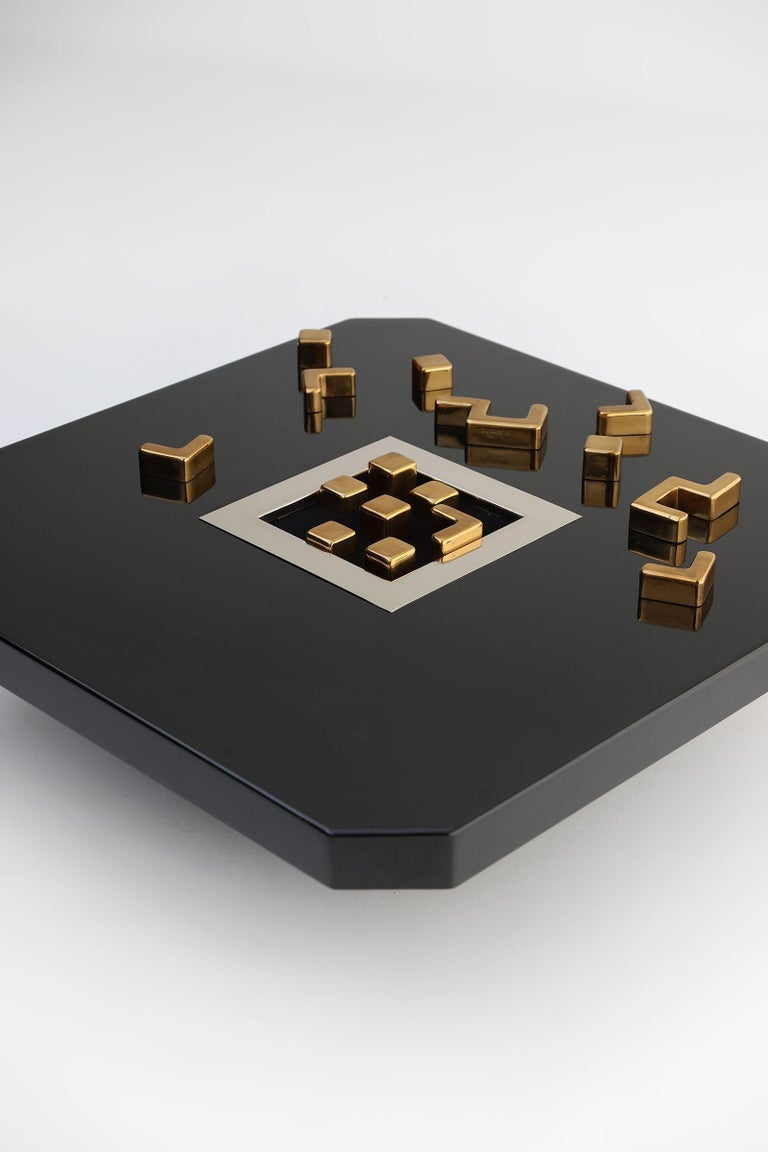 Black 'Lova Creation' Coffee Table In Excellent Condition For Sale In Antwerp, BE