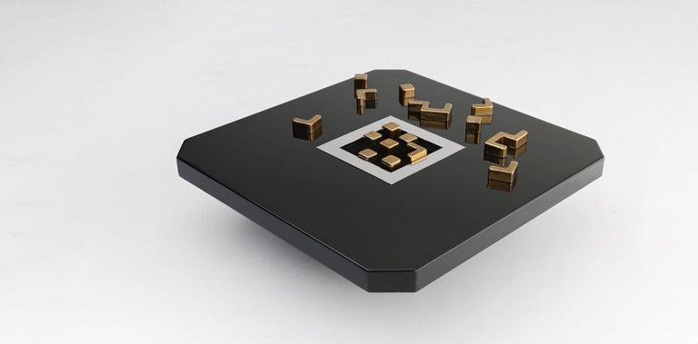 Black 'Lova Creation' Coffee Table For Sale 2