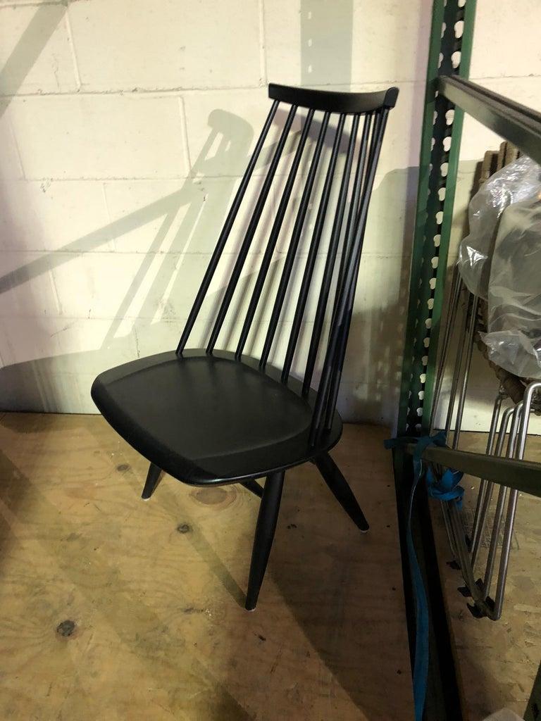 Finnish Artek Black Mademoiselle Lounge Chair For Sale